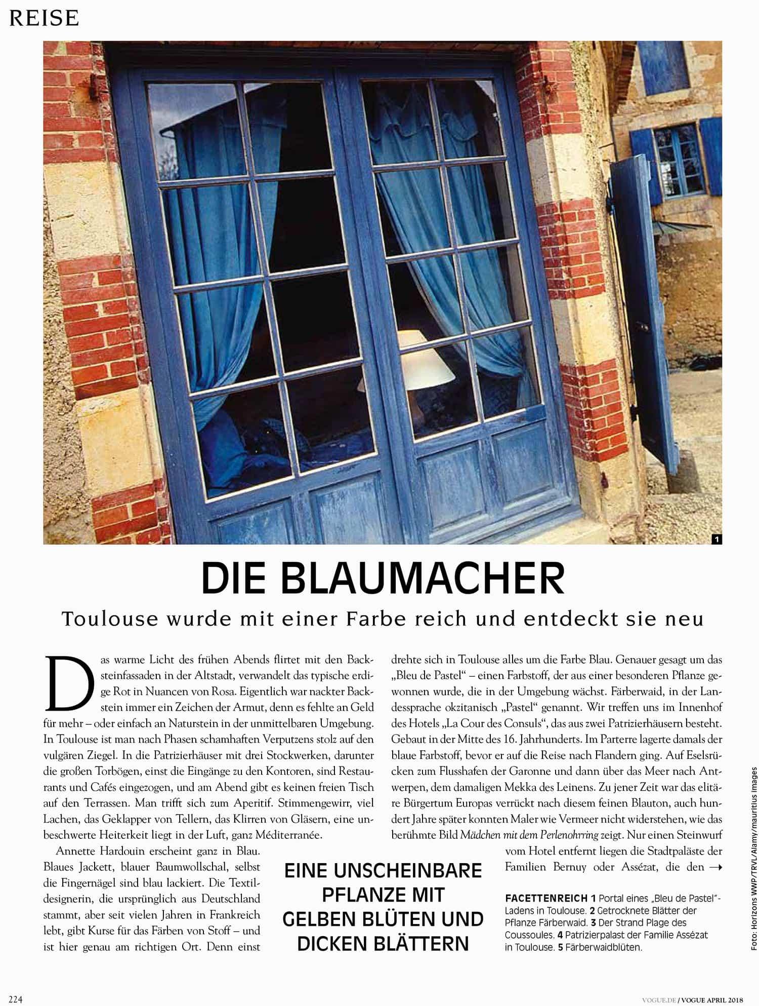 Vogue Artikel Toulouse 1